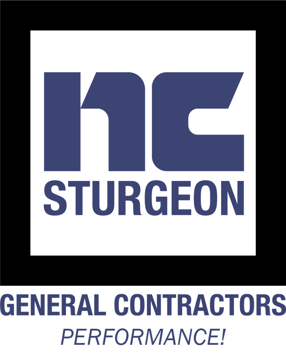 Purple Blue NC Sturgeon logo. They're a Texas-based general contracting firm consistently ranked in the top 10 steel frame building firms. They do commercial and industrial design, build, construction
